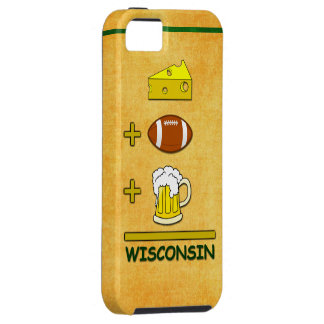 Cheese Plus Football Plus Beer Equals Wisconsin iPhone SE/5/5s Case