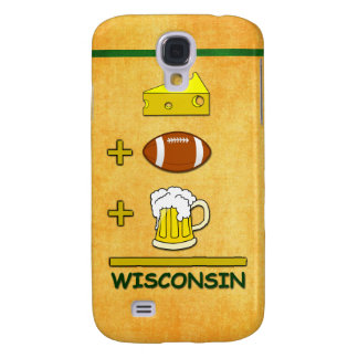 Cheese Plus Football Plus Beer Equals Wisconsin Samsung S4 Case