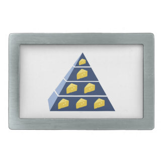 Cheese Pyramid Rectangular Belt Buckle
