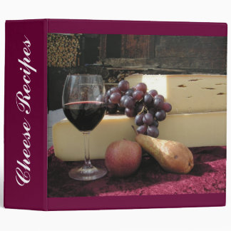 Cheese Recipes 3 Ring Binders