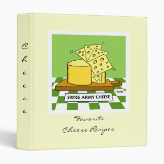 Cheese Recipes Binder with Funny Cover