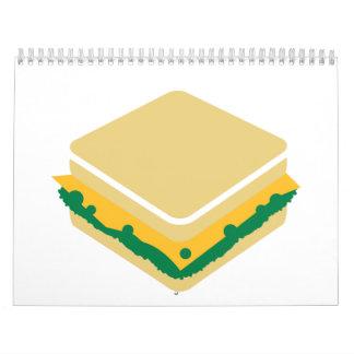 Cheese salad sandwich wall calendars