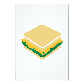 Cheese salad sandwich invitations