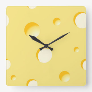 Cheese slice illustration wall clock