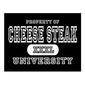 Cheese Steak University Dark Postcard