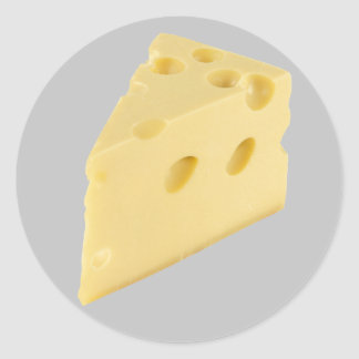 Cheese Round Stickers