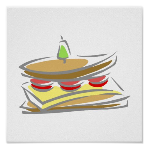 Cheese & Tomato Sandwich Poster