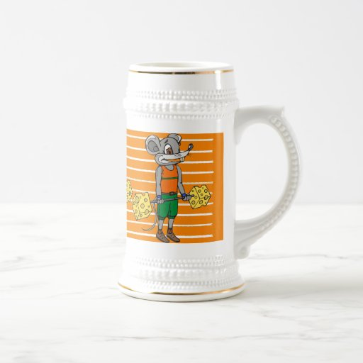 Cheese Weightlifting Mouse Mugs