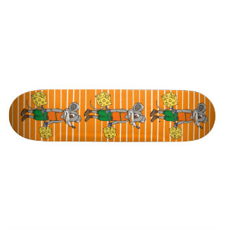 Cheese Weightlifting Mouse Skate Deck