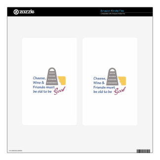 Cheese Wine And Friends Skins For Kindle Fire