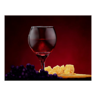 Cheese & Wine Poster