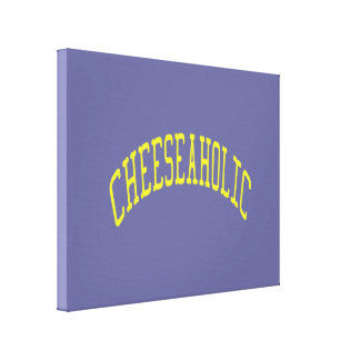Cheeseaholic Cheese Lover - Blue Background Color Canvas Print
