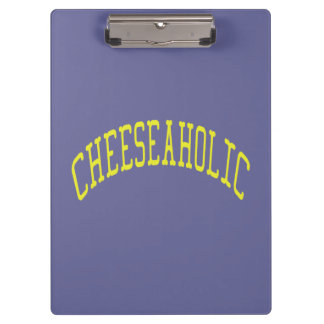 Cheeseaholic Cheese Lover - Blue Background Color Clipboard