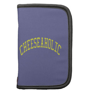 Cheeseaholic Cheese Lover - Blue Background Color Folio Planners