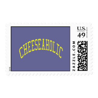 Cheeseaholic Cheese Lover - Blue Background Color Stamp
