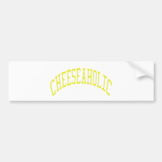 Cheeseaholic - Custom Background Color Car Bumper Sticker