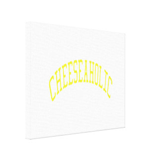 Cheeseaholic - Custom Background Color Canvas Print