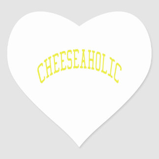 Cheeseaholic - Custom Background Color Heart Sticker