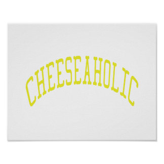 Cheeseaholic - Custom Background Color Poster