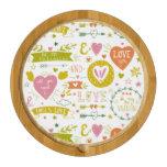 Cheeseboard temático romántico peculiar