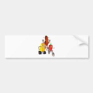 CheeseBot BeanBot and PepperBot Bumper Sticker
