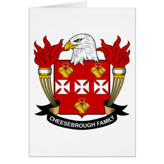 Cheesebrough Family Crest Card
