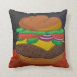 Cheeseburger 16 x almohada cuadrada 16