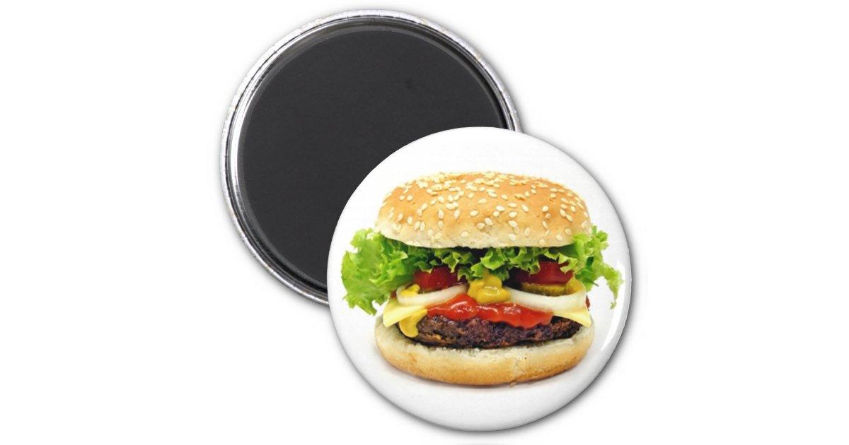 Cheeseburger 2 Inch Round Magnet | Zazzle