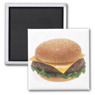 Cheeseburger 2 Inch Square Magnet