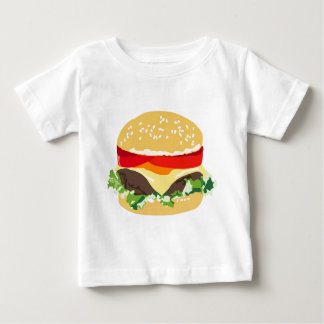 Cheeseburger americano playera de bebé