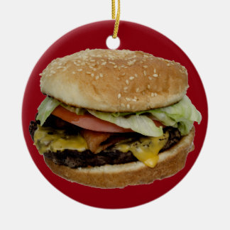 Cheeseburger and French Fries Christmas Tree Ornament