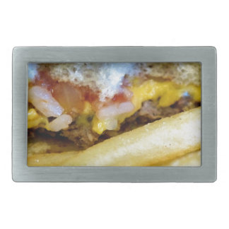 Cheeseburger and Fries Belt Buckle