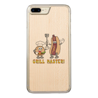 Cheeseburger and Hot Dog Grill Master Carved iPhone 8 Plus/7 Plus Case