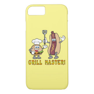 Cheeseburger and Hot Dog Grill Master iPhone 8/7 Case