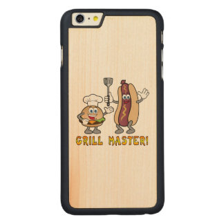Cheeseburger and Hot Dog Grill Master Carved® Maple iPhone 6 Plus Slim Case