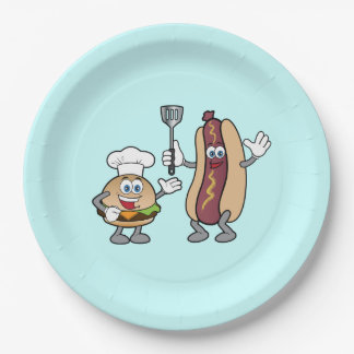 Cheeseburger and Hot Dog Party Plates Cook-Out