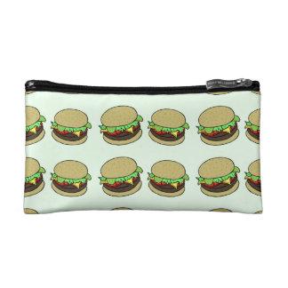 Cheeseburger Cosmetics Bags
