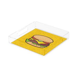 Cheeseburger Bandeja Cuadrada