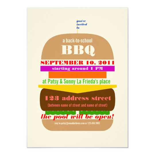 cheeseburger bbq cookout invitation template zazzle com