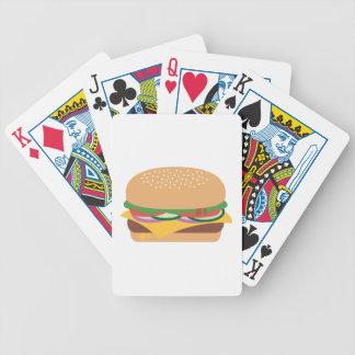 Cheeseburger Bicycle Playing Cards