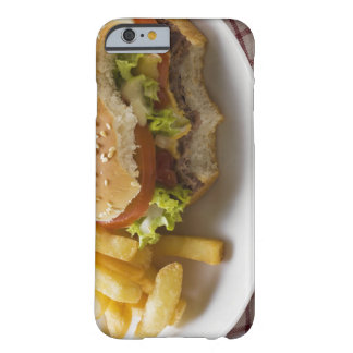Cheeseburger, bites taken, with chips barely there iPhone 6 case