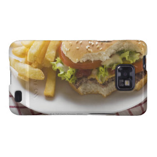 Cheeseburger, bites taken, with chips samsung galaxy SII cover