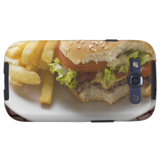 Cheeseburger, bites taken, with chips galaxy s3 cases