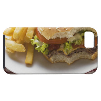 Cheeseburger, bites taken, with chips iPhone SE/5/5s case