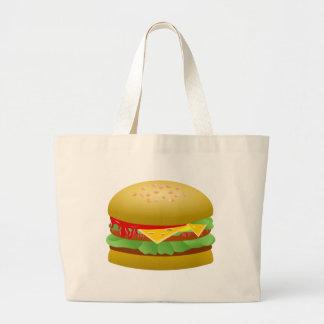 Cheeseburger Bolsa De Tela Grande