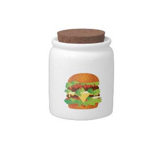 Cheeseburger Candy Jars