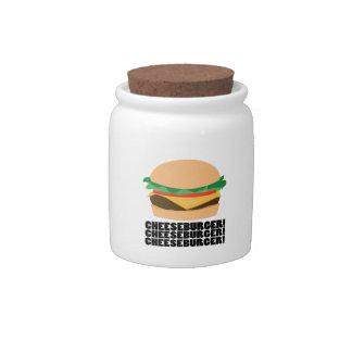 Cheeseburger Candy Dish