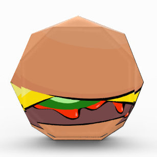 Cheeseburger Cartoon Acrylic Award