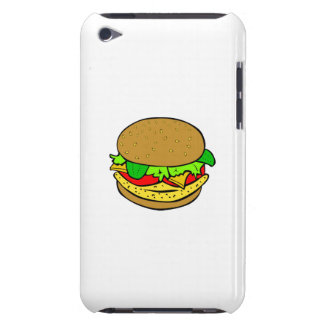 Cheeseburger cartoon iPod touch cases