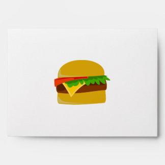 Cheeseburger cartoon envelope